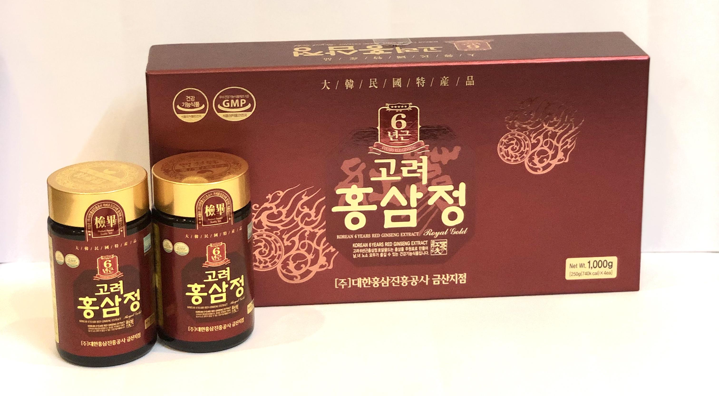 Cao hồng sâm cao cấp Royal Hàn Quốc 250gx2 lọ/250gx4 lọ