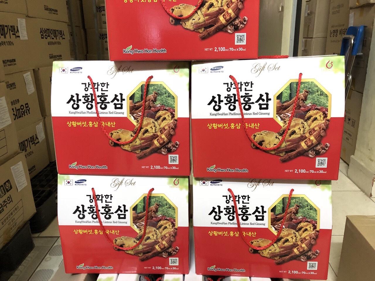 Nước hồng sâm nấm thượng Hàn Quốc 70mlx 30 gói/hộp