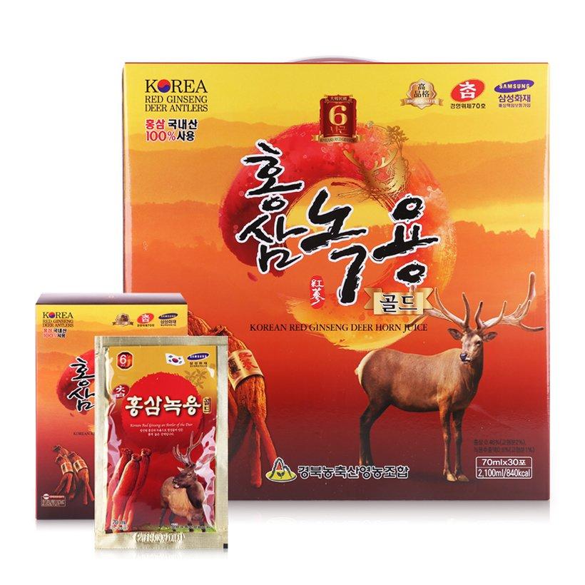 Nước hồng sâm nhung hươu Hàn Quốc 70ml/gói x 30 gói/hộp