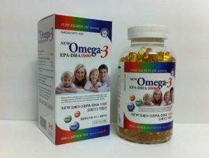 Omega-3 (Tinh dầu cá hồi) 1011mg/viên (Gia đình xanh)